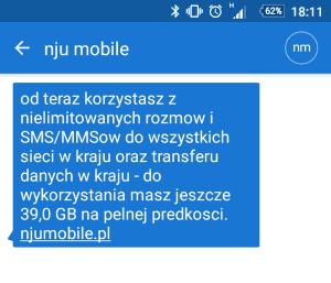 kraków internetu sms